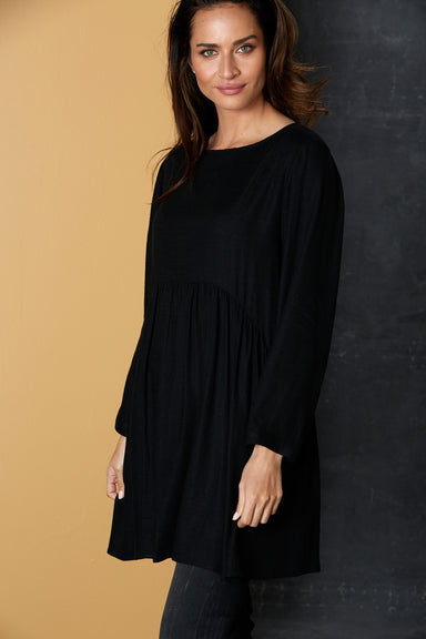 Calma Tunic / Jacket - Black - eb&ive Clothing - Top Dress Oversize