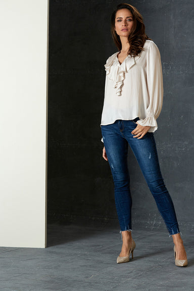 Liberty Blouse - Cream - eb&ive Clothing - Shirt - Dressy