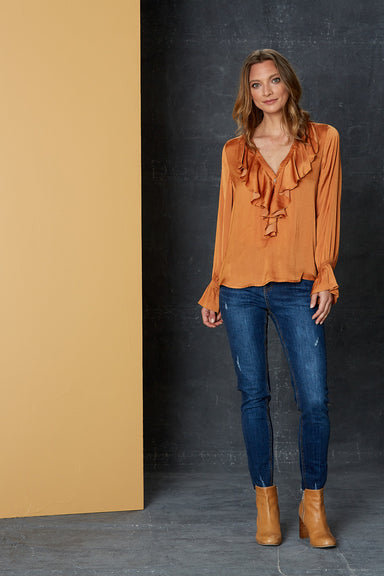 Liberty Blouse - Caramel - eb&ive Clothing - Shirt - Dressy