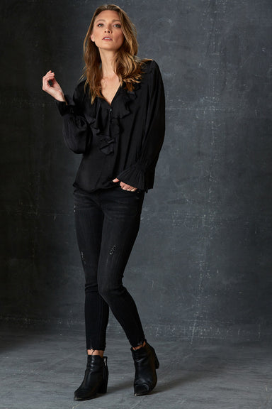 Liberty Blouse - Black - eb&ive Clothing - Shirt - Dressy