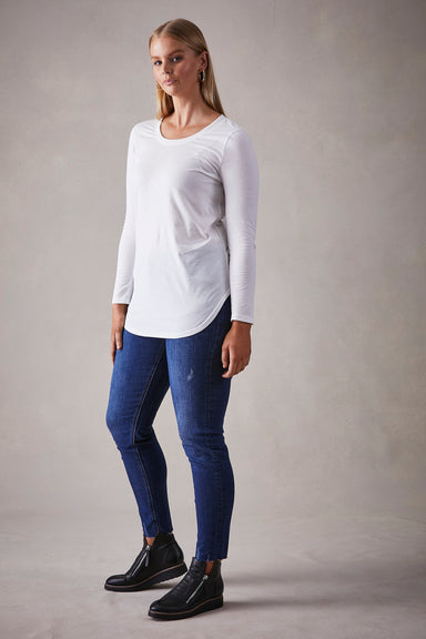 Relax Tshirt - White - eb&ive Clothing - Top Tshirt L/S Relaxed