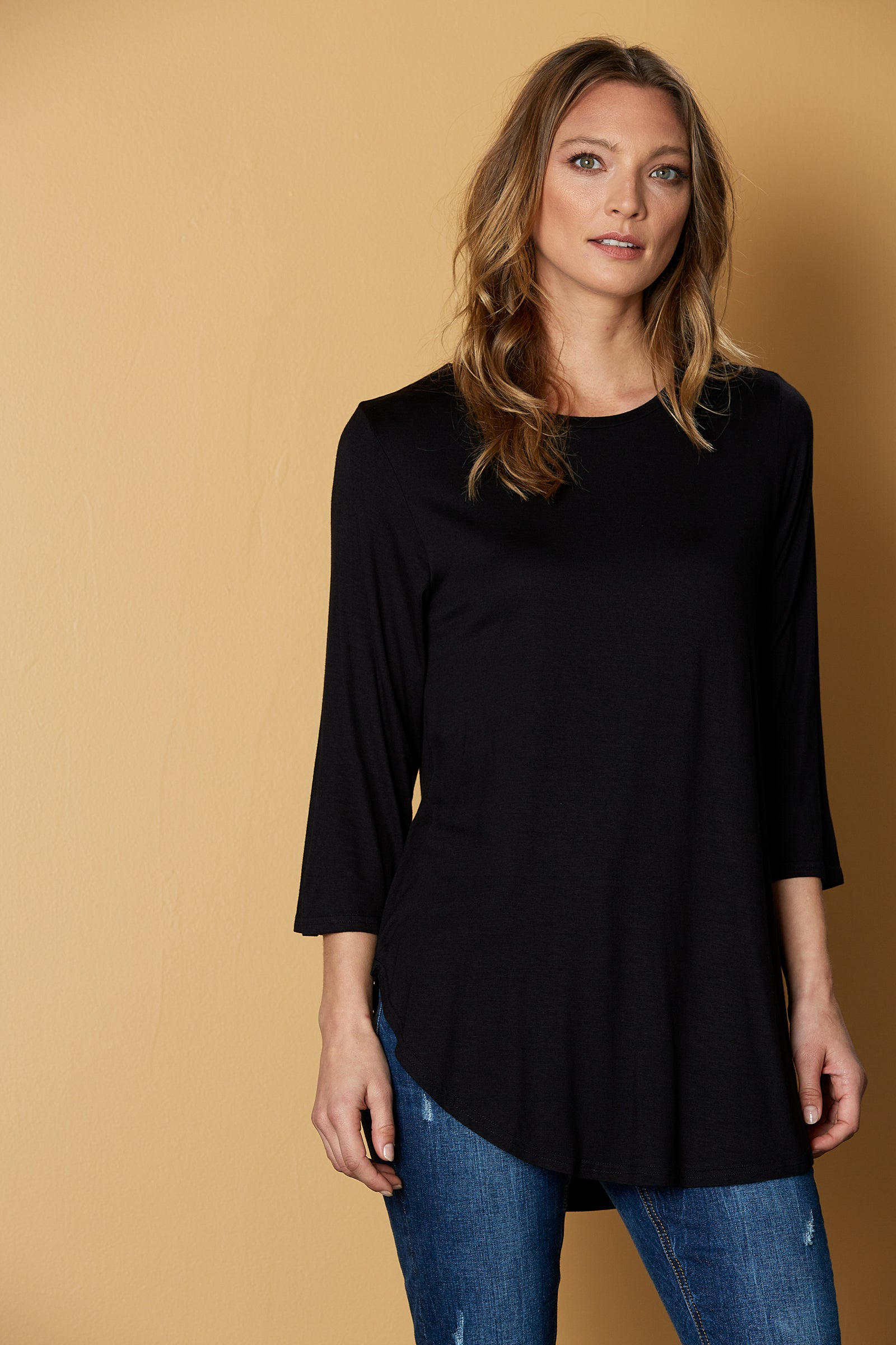 Muse Tshirt - Black - eb&ive Clothing - Top Tshirt L/S Relaxed