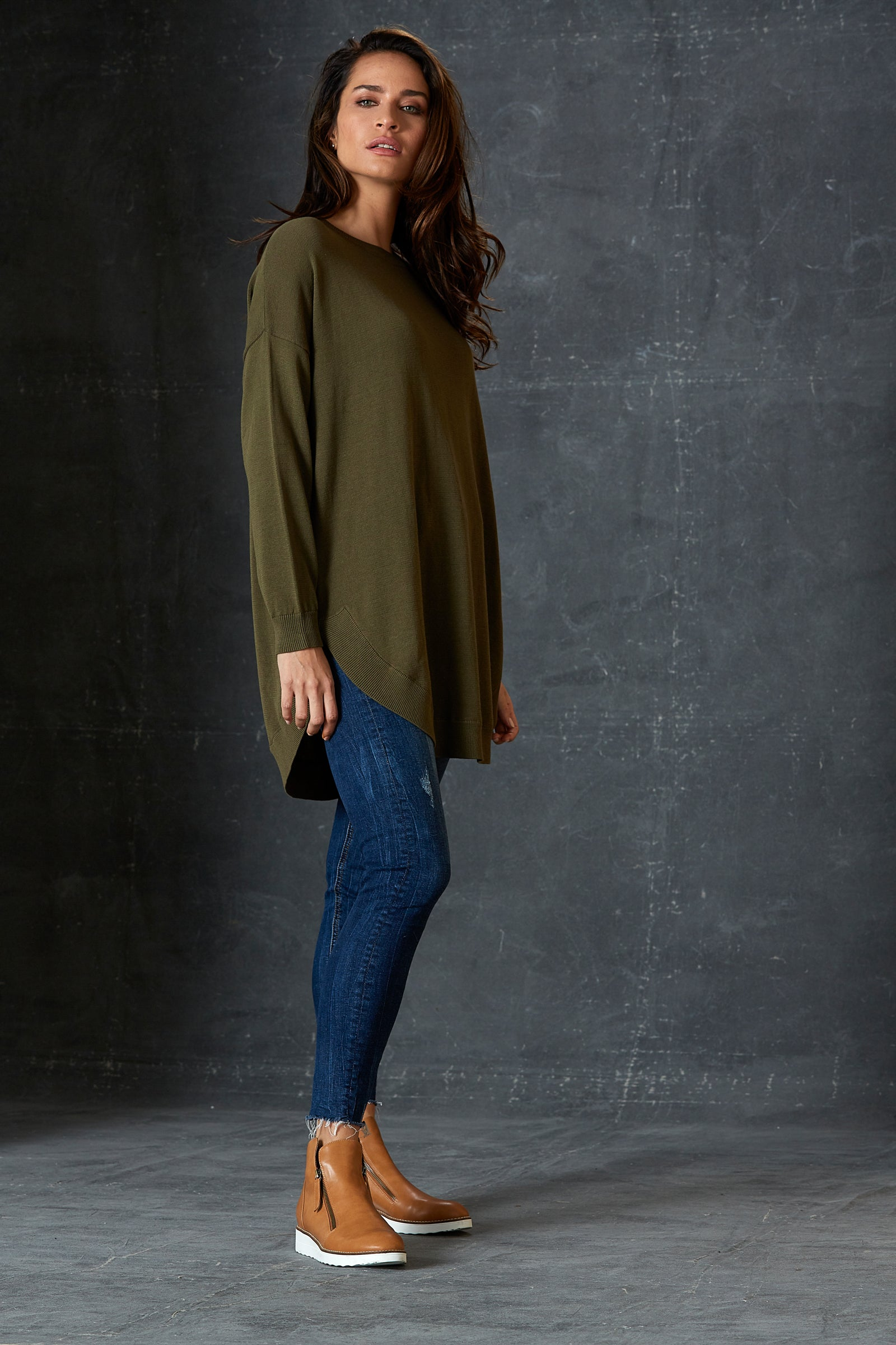 TGIF Knit - Olive - eb&ive Clothing - Knit Jumper One Size