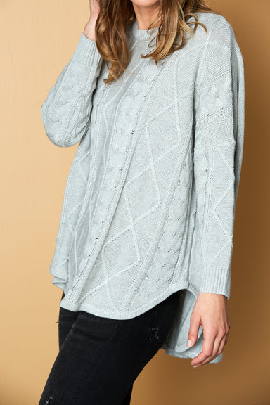 Unwind Cable Knit - Marle - eb&ive Clothing - Knit Jumper One Size