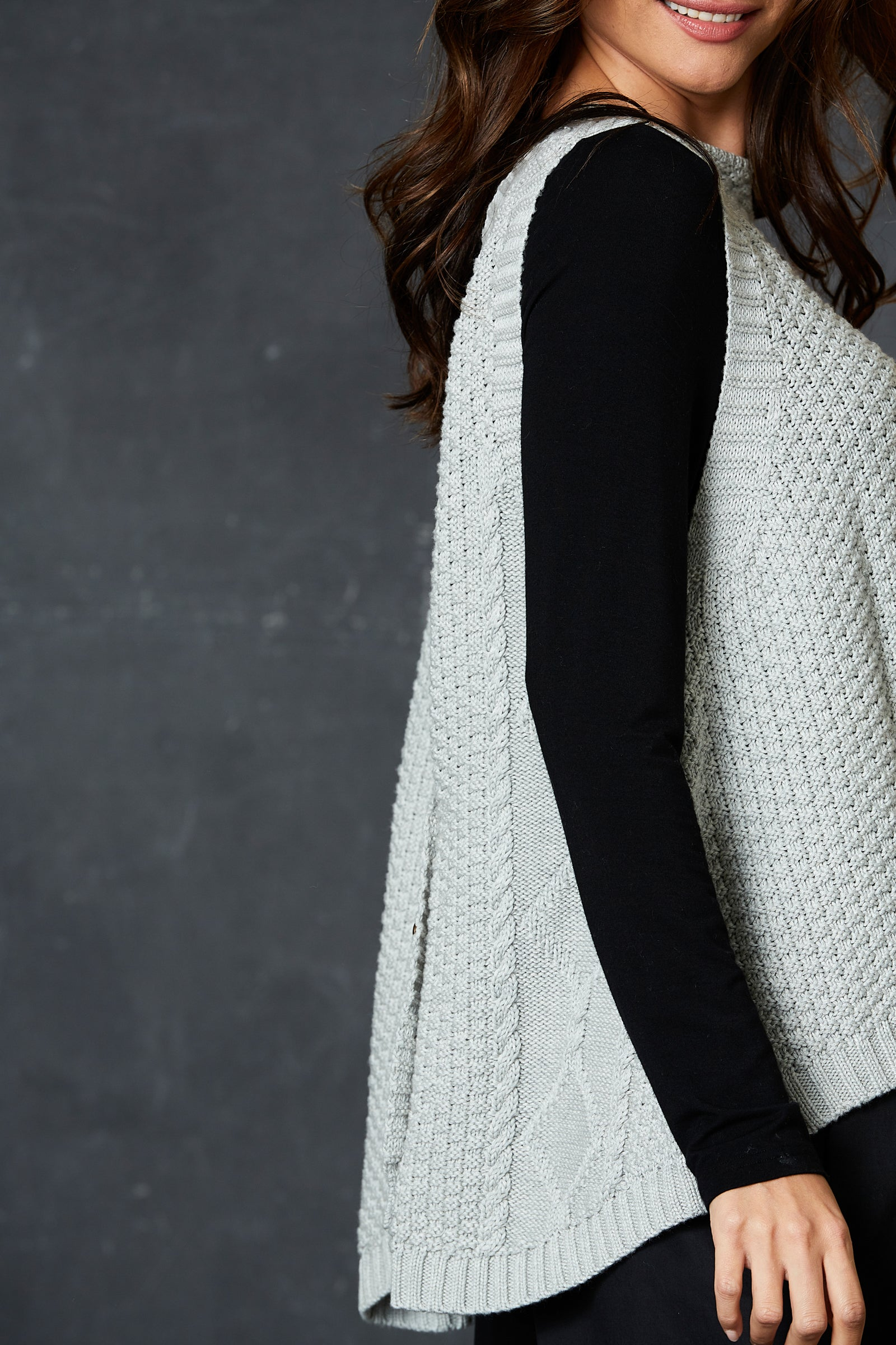 Unwind Cable Vest - Marle - eb&ive Clothing - Knit Vest One Size