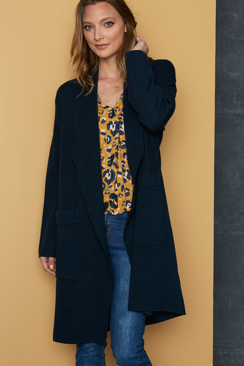Mellow Cardigan - Midnight - eb&ive Clothing - Knit Cardigan One Size