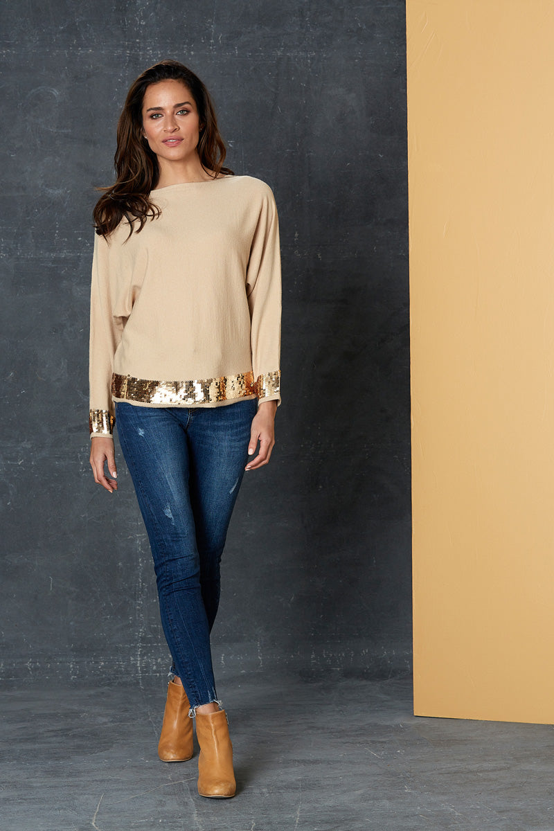 Luxe Knit - Almond - eb&ive Clothing - Knit Jumper - Dressy