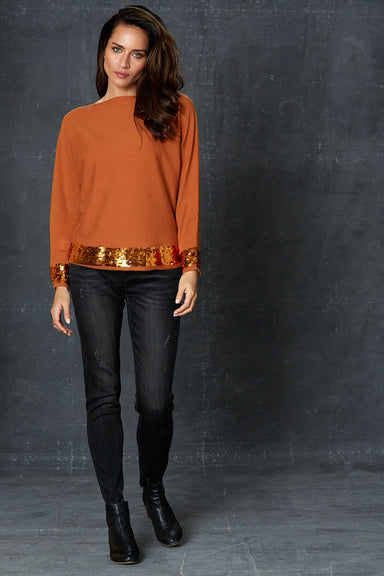 Luxe Knit - Caramel - eb&ive Clothing - Knit Jumper - Dressy
