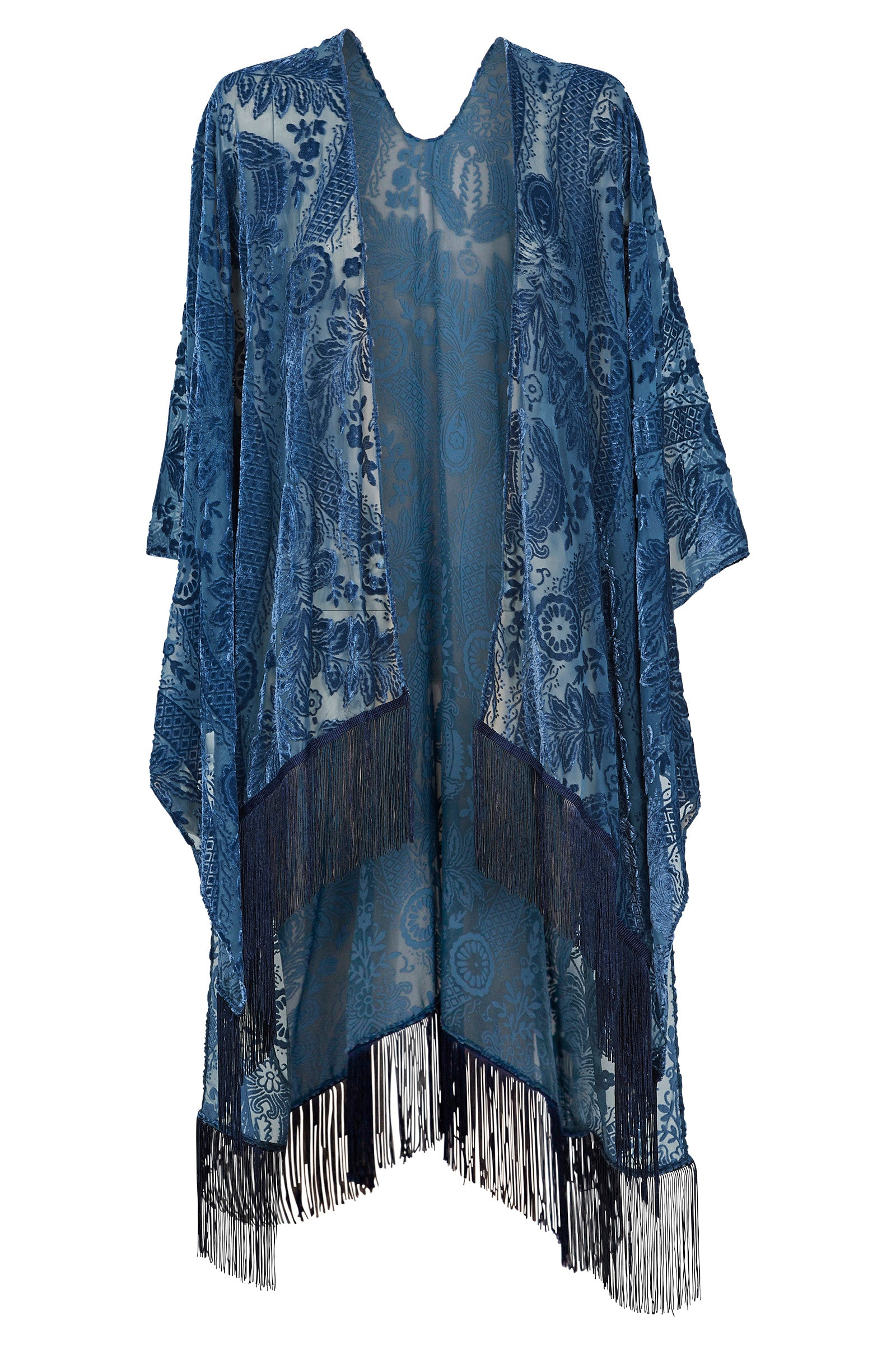 Luxe Cape - Midnight - eb&ive Clothing - Kimono Cape Long One Size