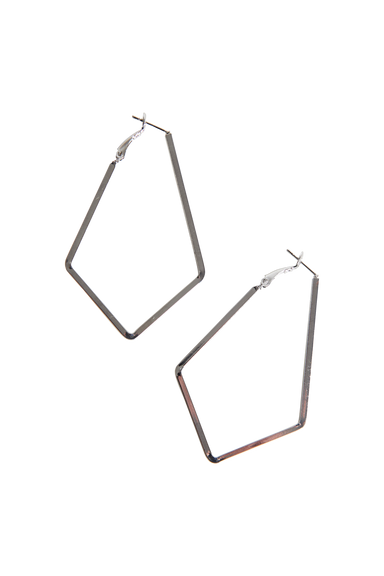 Liberty Diamond Earring - Silver - eb&ive Earring