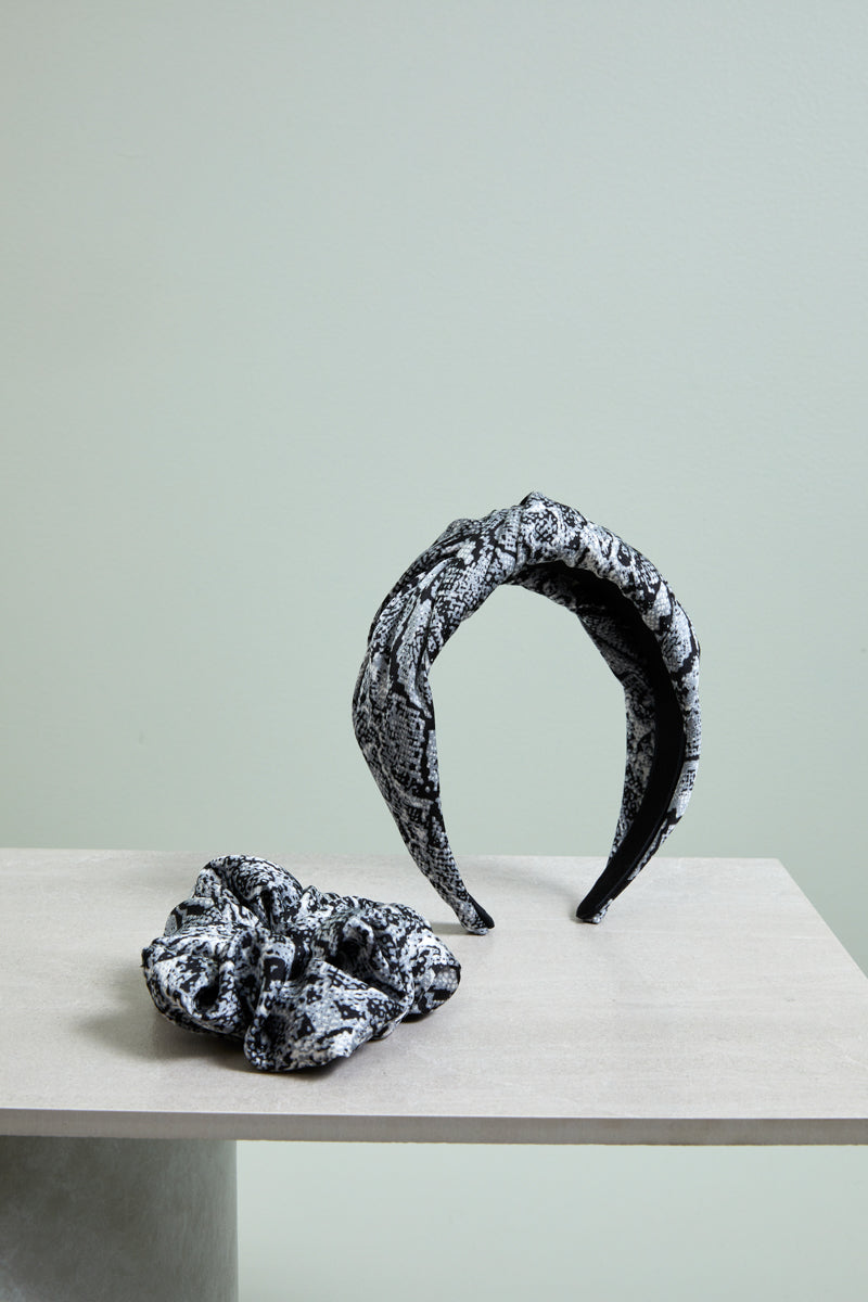 Wild Scrunchie - Grey - eb&ive Headwear