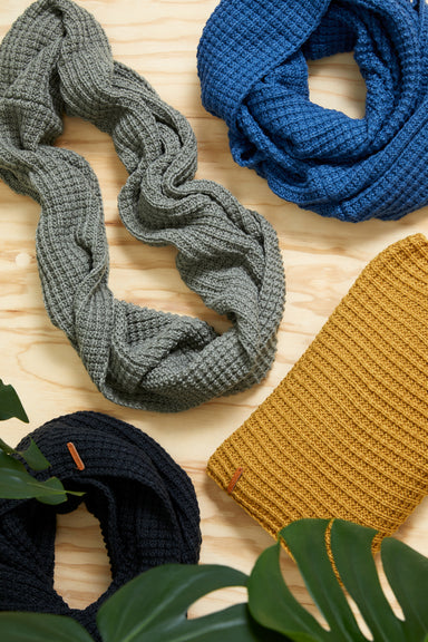 Bask Snood - Denim - eb&ive Scarves