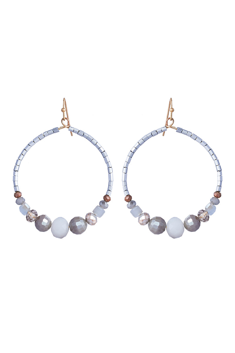 Savoy Drop Earring - Grey - eb&ive Earring