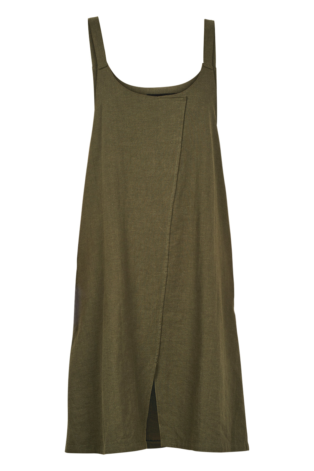 Dolores Pinafore - Moss - eb&ive Clothing - Dress Linen