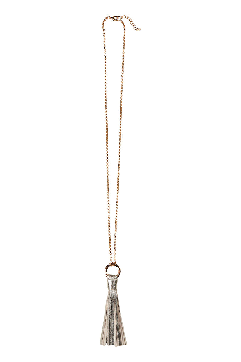 Ita Tassel  - Silver - eb&ive Necklace