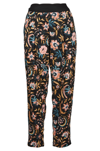 Siela Pant - Black Botanical - eb&ive Clothing - Pant Relaxed