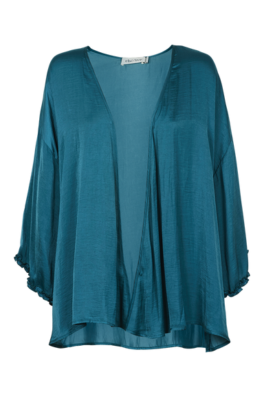 Zena Cape - Teal - eb&ive Clothing - Top 3/4 Sleeve