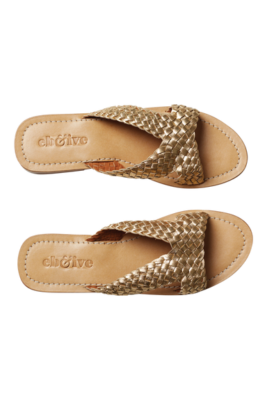 Tribu Sandal - Gold - eb&ive Footwear - Sliders