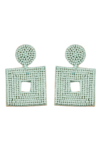 Society Stone / Bead Earring - Mint - eb&ive Earring