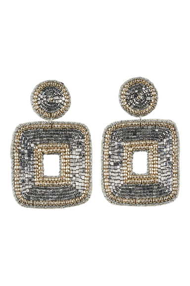 Mama Square Earring - Silver - eb&ive Earring