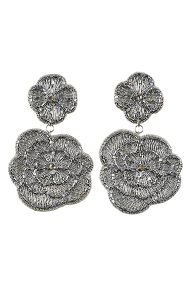 Mama Flora Earring - Silver - eb&ive Earring