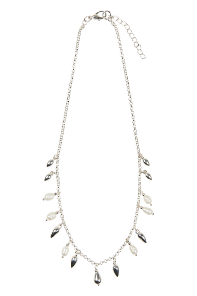 Royalty Teardrop Necklace - Silver - eb&ive Necklace