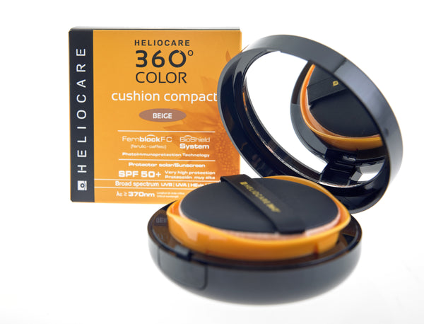 Heliocare 360 Color Cushion Compact SPF50+ Beige 15g - Buy Online Now - dermoi! SHOP