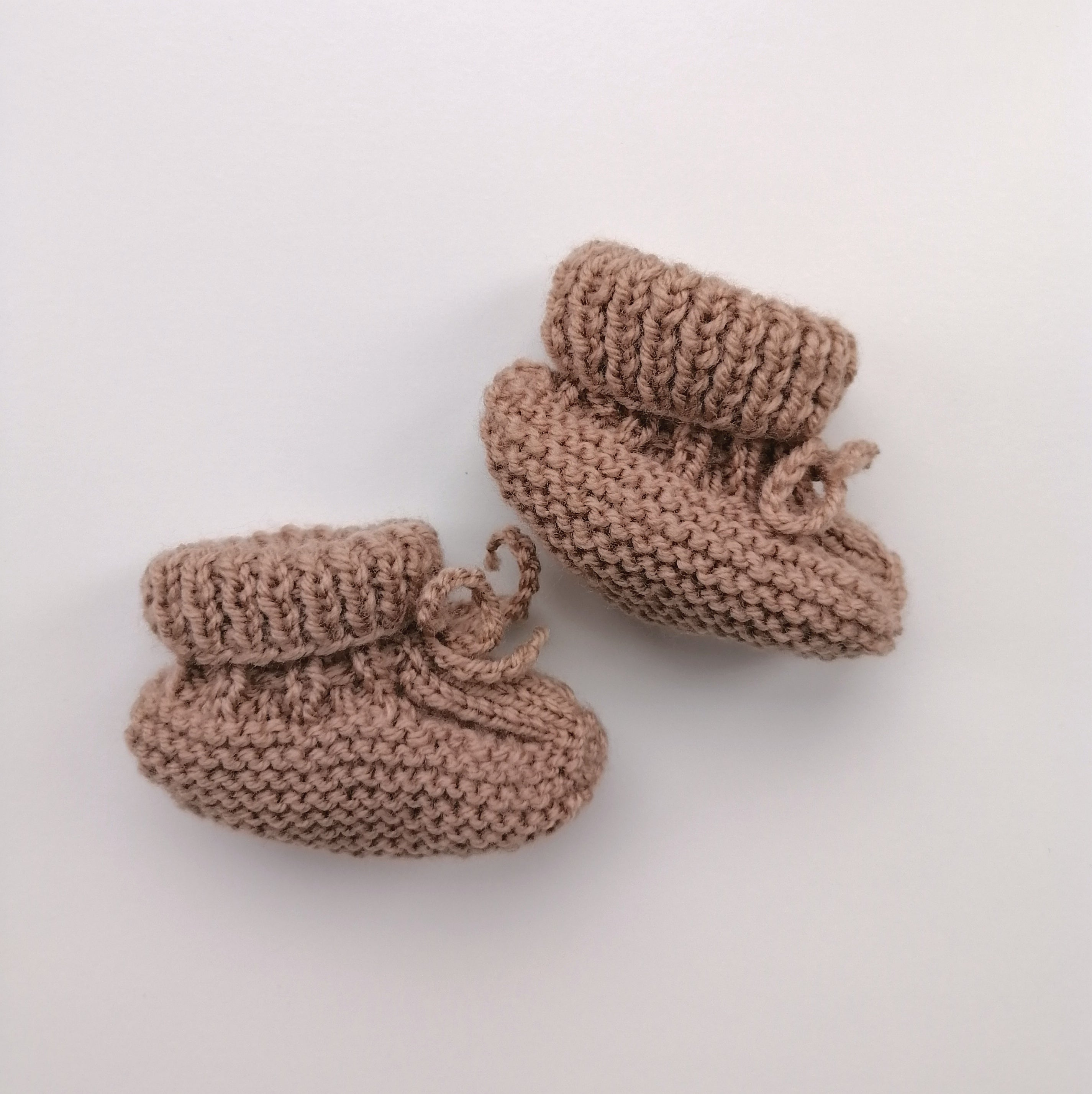 Irish Hand Knit Baby Booties - Pebble