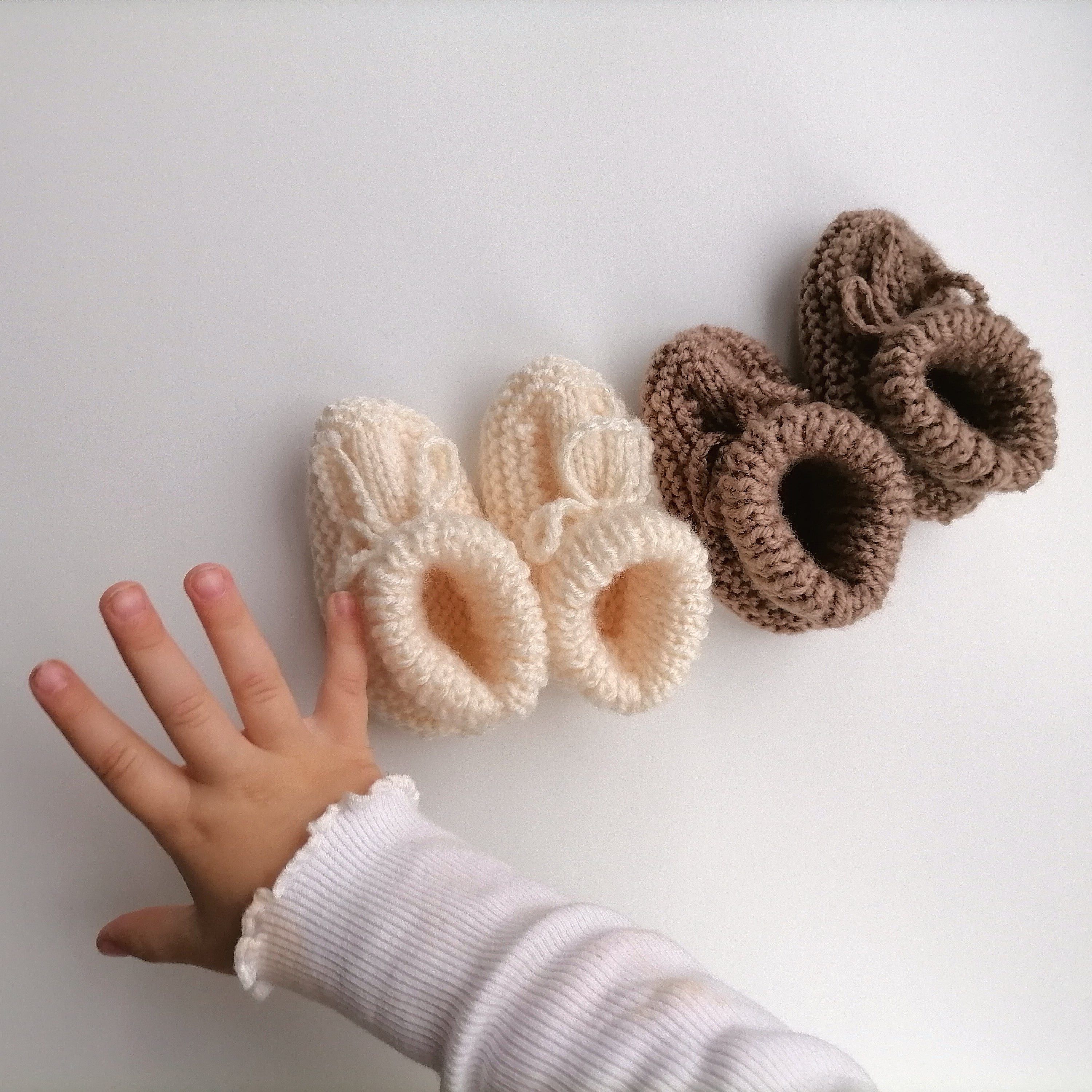 Irish Hand Knit Baby Booties - Aran
