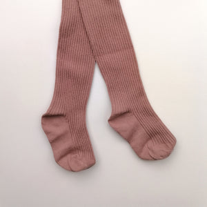 Ribbed Tights - Rose