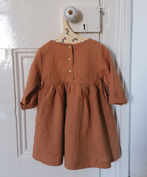 Sadie Linen Dress - Spice