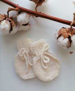 Irish Hand Knit Baby Mittens - Aran
