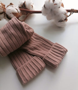 Chunky Knit Rib Leggings - Fawn