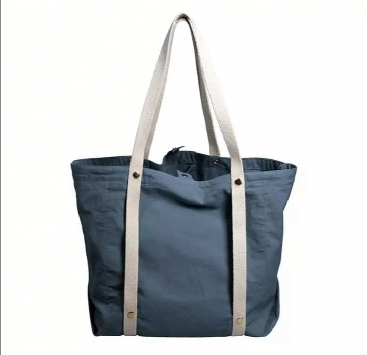 Organic Cotton Tote Bag - Ocean Blue