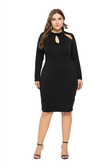 6d006d17419 Plus Size Cut out Long Sleeve Bodycon Dress – DRESS TO LOOK CO