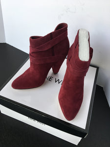 New Nine West Women Ankle Boots - Burgundy