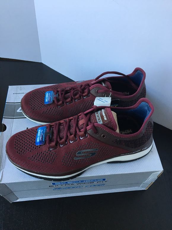 New Burgundy Men Sketchers