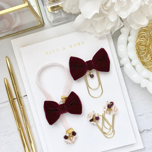 Blush and Burgundy Velvet Bundle