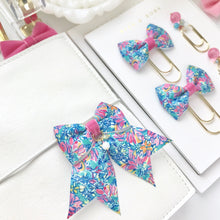 Load image into Gallery viewer, Multicolor Floral Ribbon Bow Planner Charm