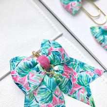 Load image into Gallery viewer, Tropical Leaves Ribbon Bow Planner Charm