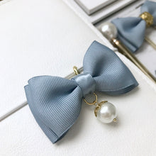 Load image into Gallery viewer, Dusty Blue Double Bow Planner Charm