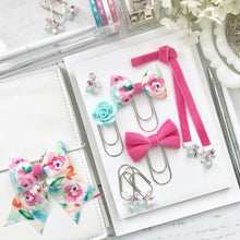 Load image into Gallery viewer, Bright Pink Velvet Ribbon Bookmark