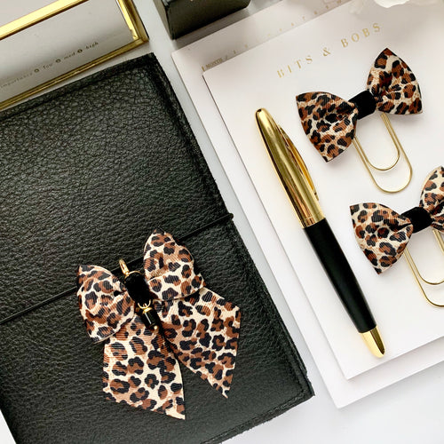 Leopard Print Bow Planner Charm