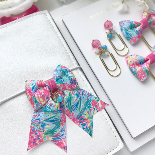 Multicolor Tropical Ribbon Bow Planner Charm