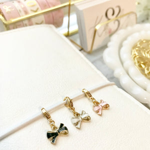 Tiny Bow Planner / Zipper Charm
