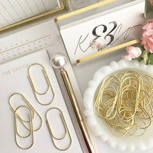 Load image into Gallery viewer, High Quality Wide Gold Paperclip Set
