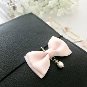 Blush Pink Double Bow Planner Charm