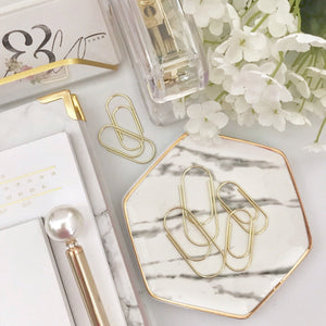 High Quality Wide Gold Paperclip Set