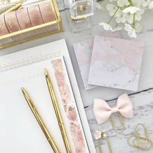 Load image into Gallery viewer, Pink Watercolor with Gold Foil Washi Tape