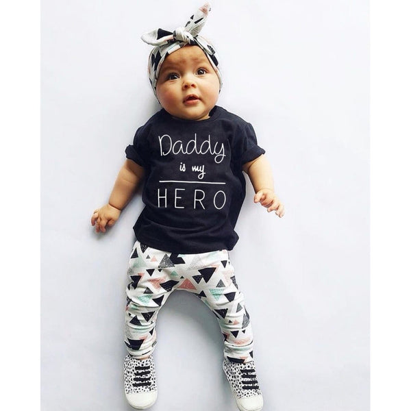 Daddy Is My Hero Outfit Set